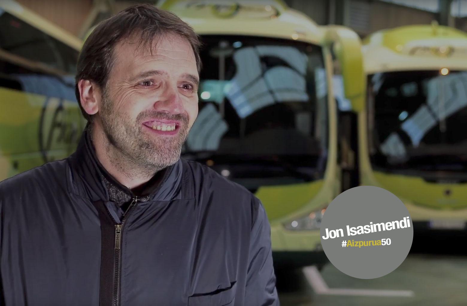 Jon Isasisasmendi, #5OAños con Autobuses Aizpurua